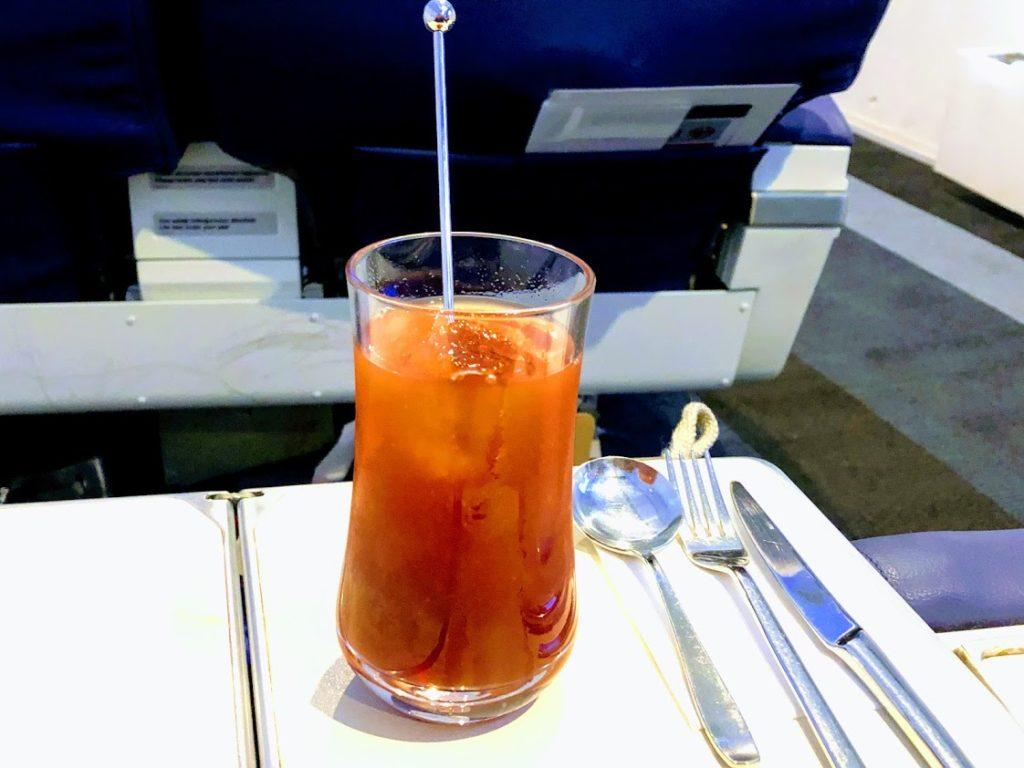 機内食のサービスドリンク