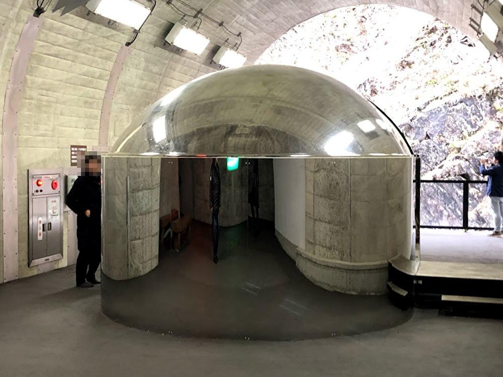清津峡峡谷トンネル内のトイレ