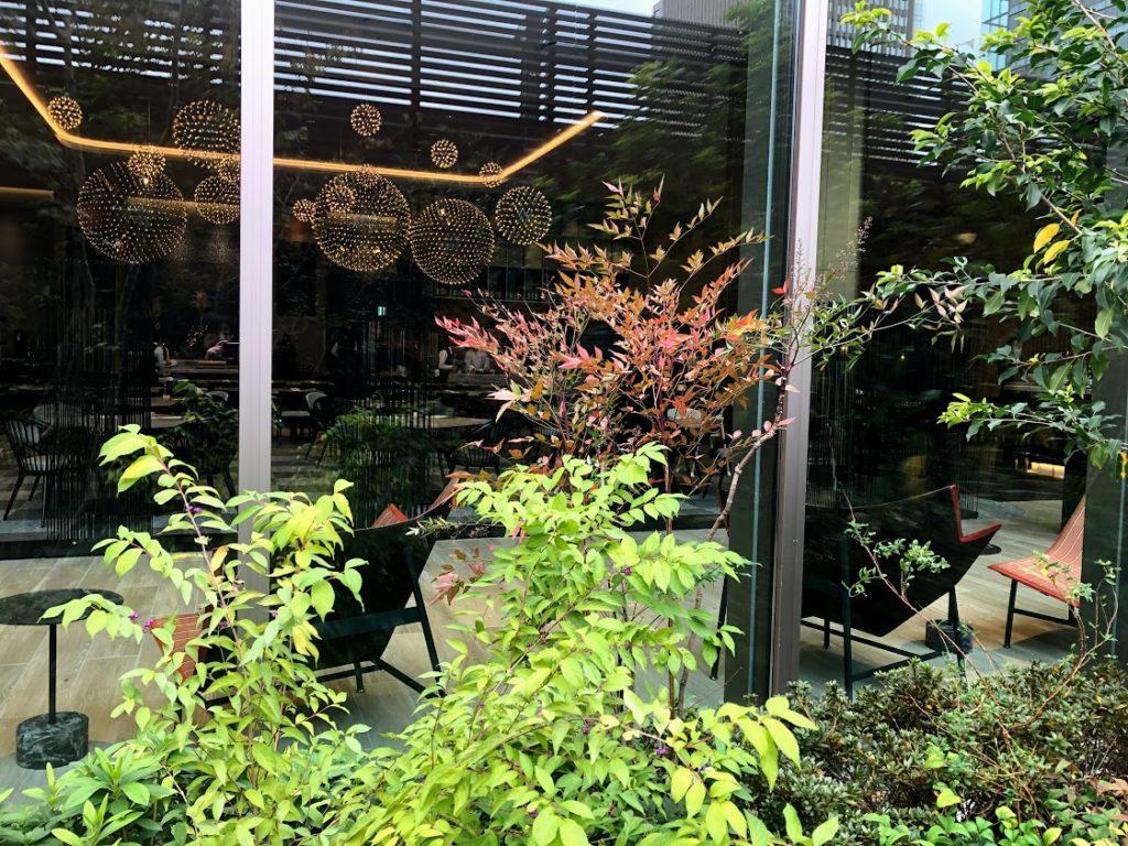 ホテル阪急レスパイアの屋上庭園