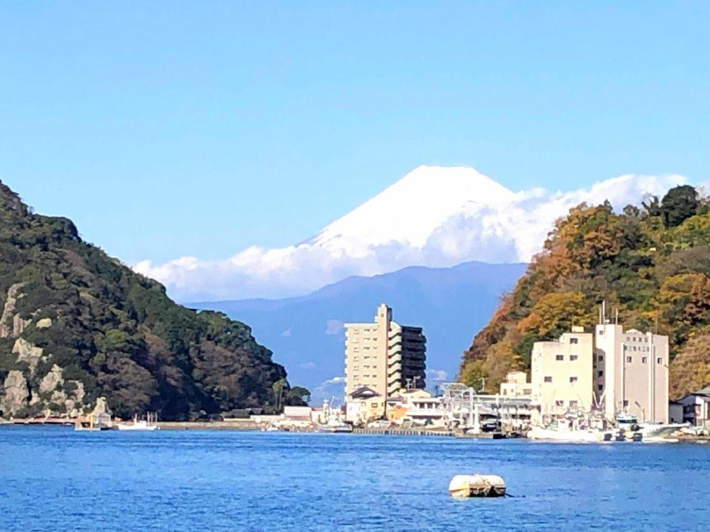 駿河湾から眺める富士山