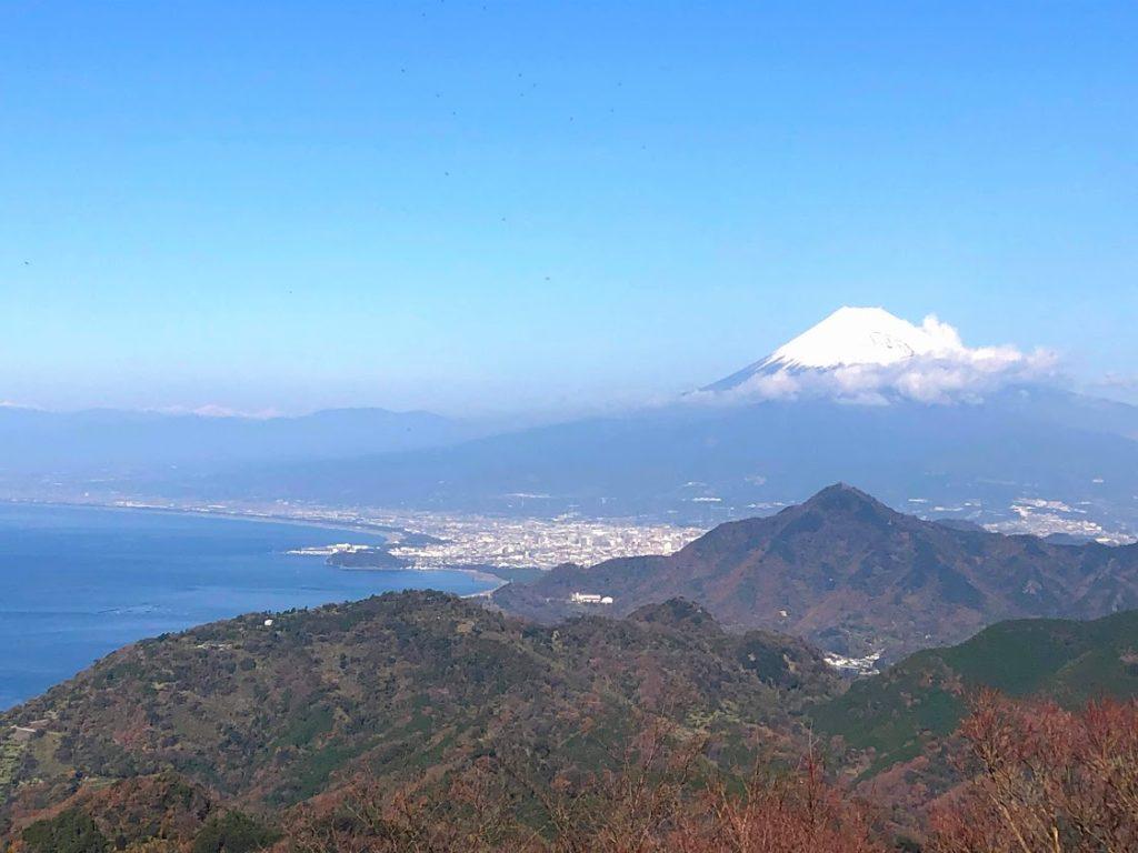 伊豆パノラマパークから眺める富士山