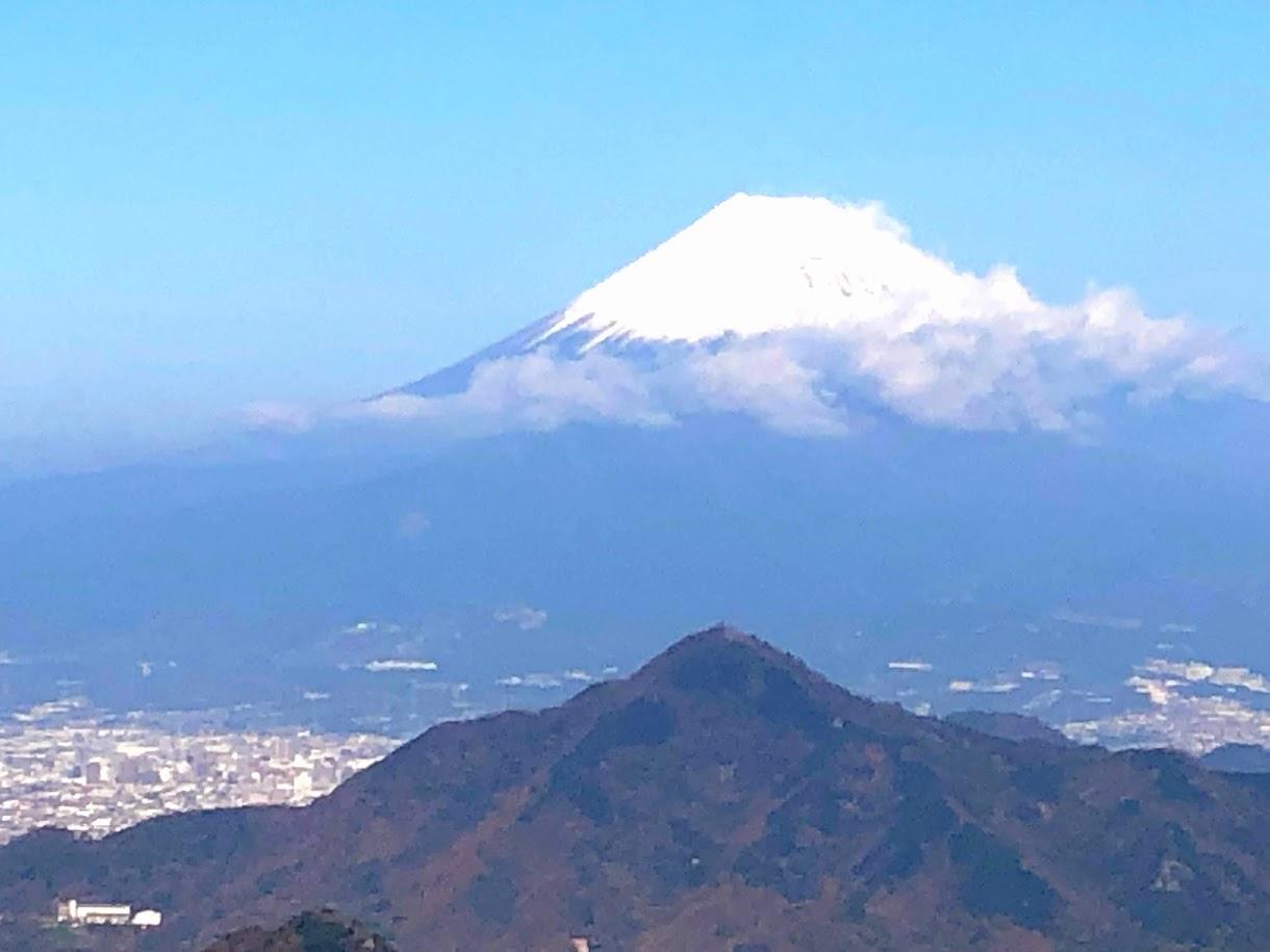葛城山から眺める富士山