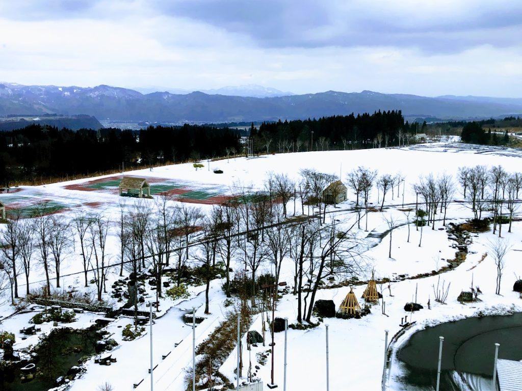 ホテルニュー・グリーンピア津南の雪景色