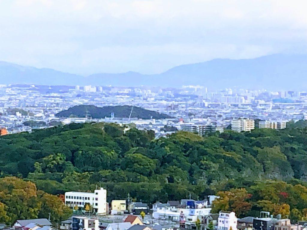 堺市役所展望台から眺める古墳