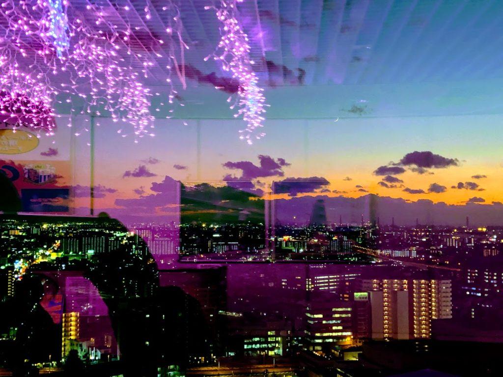 堺市役所展望台の夕焼け