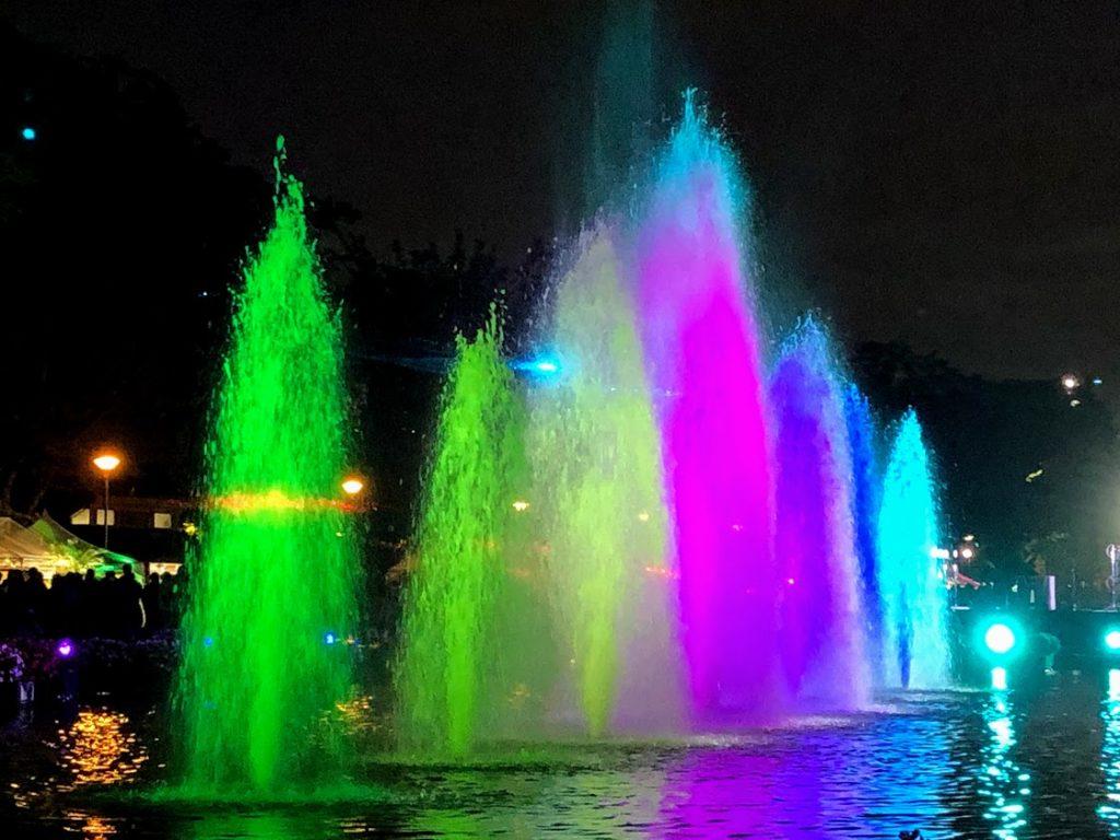 上野公園噴水広場のライトアップ