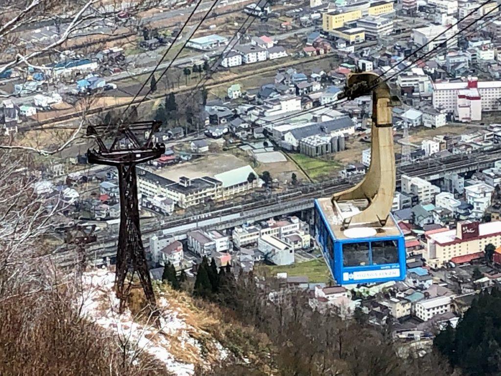 湯沢高原のロープウェイ