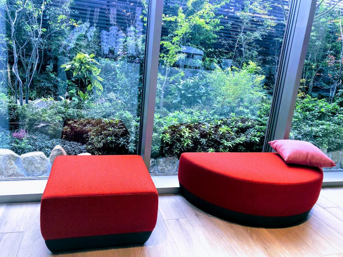 リンクス梅田の屋上庭園
