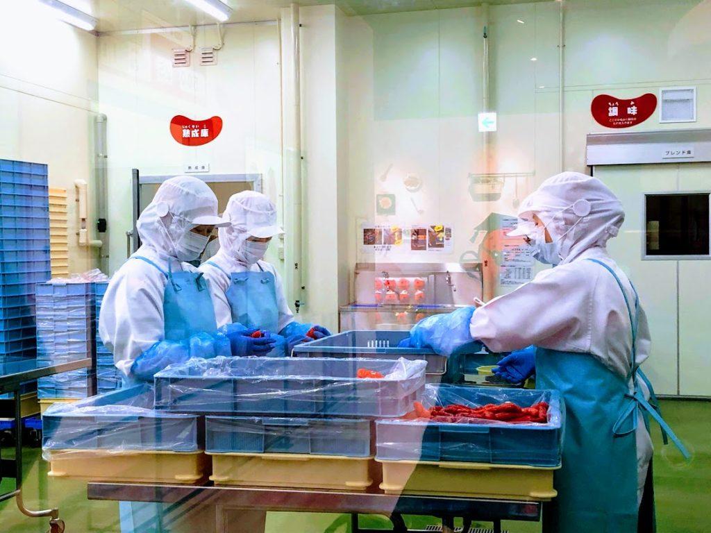 めんたいパーク伊豆の工場見学