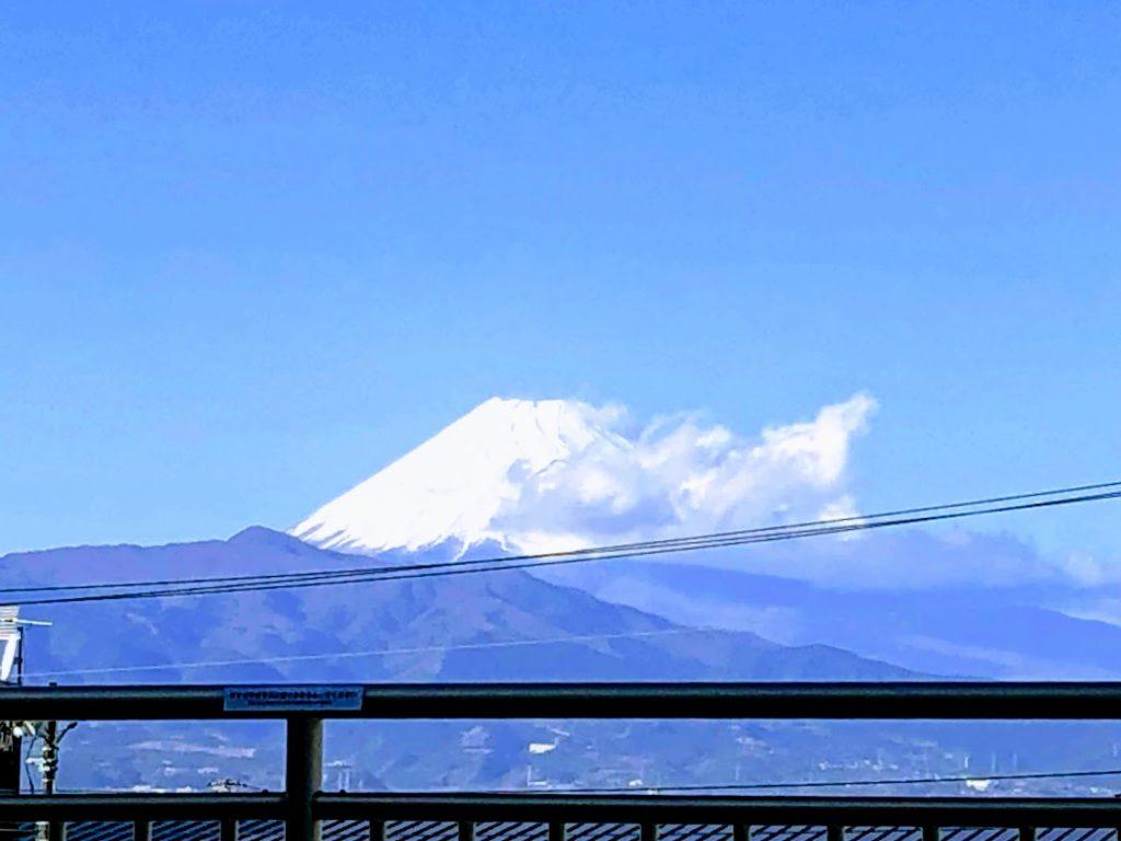 めんたいパークから眺める富士山