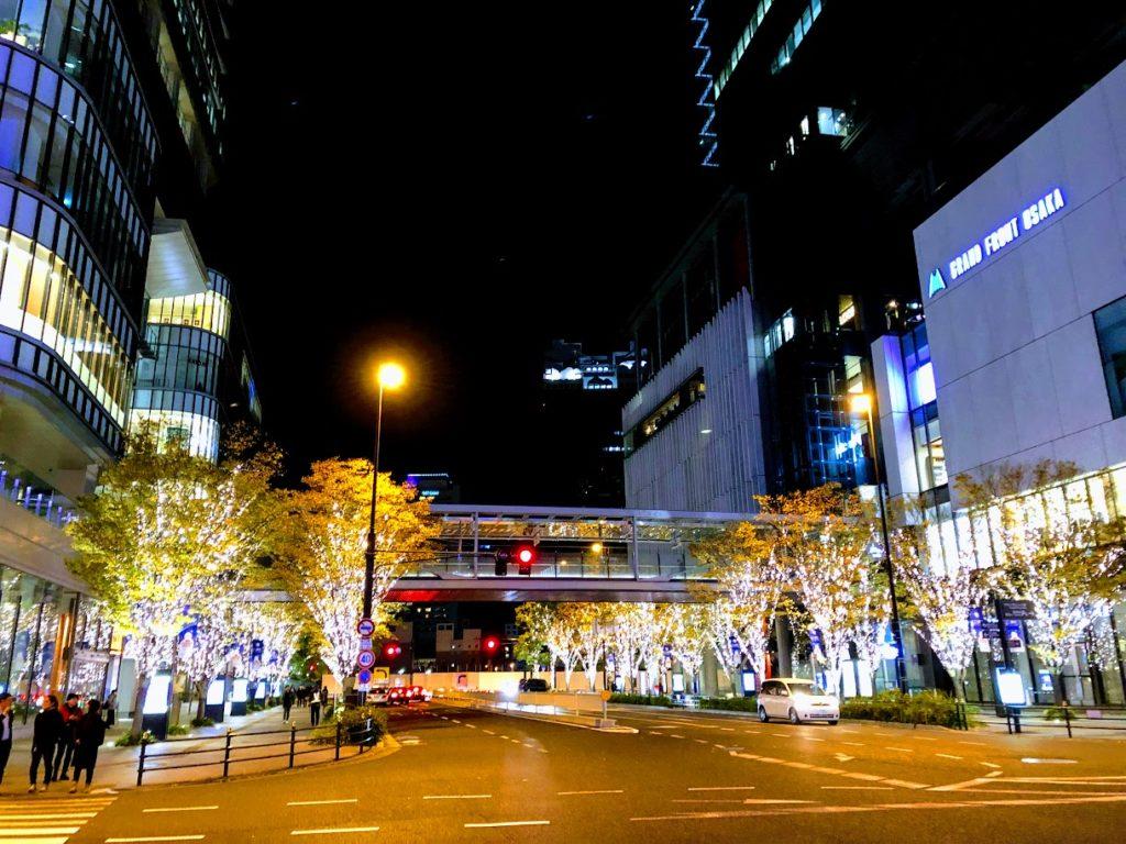 グランフロント大阪の夜景