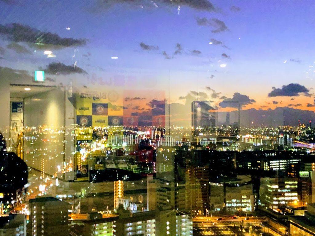 大阪堺市役所展望台から眺める夜景
