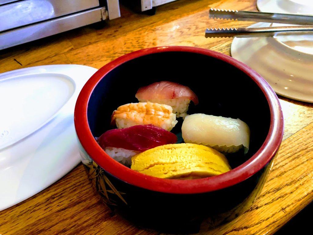 千鳥海館別館 バーベキューセンターの寿司