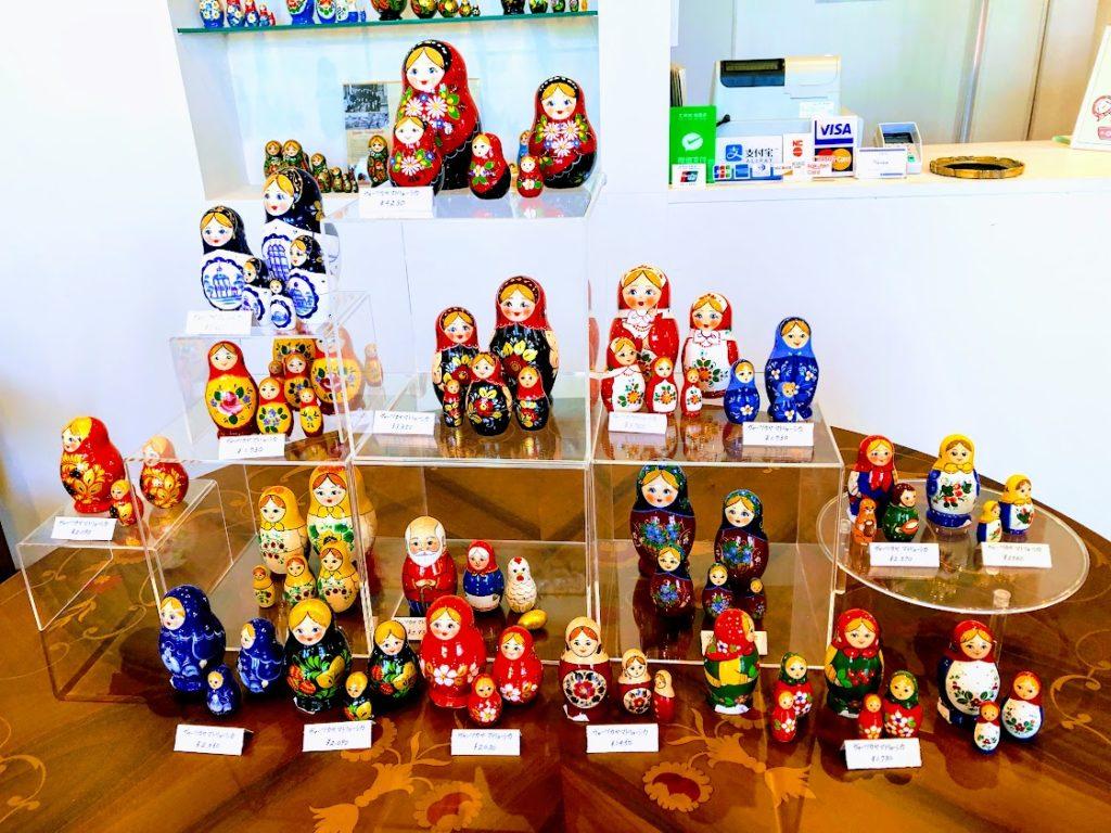 函館のロシア雑貨店チャイカのマトリョーシカ